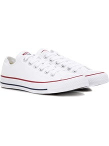 All Star Ox Canvas Sneakers - predominant colour: white; occasions: casual; material: fabric; heel height: flat; toe: round toe; style: trainers; finish: plain; pattern: plain; wardrobe: basic; season: s/s 2017