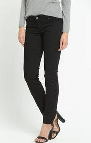 J20 Skinny Jeans - style: skinny leg; length: standard; pattern: plain; pocket detail: traditional 5 pocket; waist: mid/regular rise; predominant colour: black; occasions: casual; fibres: cotton - stretch; texture group: denim; pattern type: fabric; season: a/w 2015; wardrobe: basic