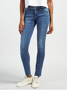 Mid Rise Skinny Jeans, Wonder Mid - style: skinny leg; length: standard; pattern: plain; pocket detail: traditional 5 pocket; waist: mid/regular rise; predominant colour: denim; occasions: casual; fibres: cotton - stretch; texture group: denim; pattern type: fabric; wardrobe: basic; season: s/s 2017