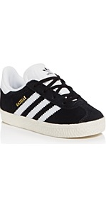 Unisex Gazelle Sneakers Walker, Toddler - secondary colour: white; predominant colour: black; occasions: casual, activity; material: suede; heel height: flat; toe: round toe; style: trainers; finish: plain; pattern: striped; season: s/s 2017