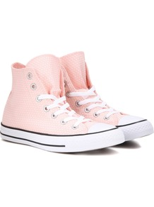 Chuck Taylor All Stars Sneakers - secondary colour: white; predominant colour: blush; occasions: casual; material: fabric; heel height: flat; toe: round toe; style: trainers; finish: plain; pattern: colourblock; wardrobe: highlight; season: s/s 2017