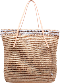 Diamante Raffia Tote Bag - predominant colour: camel; occasions: casual, holiday, creative work; type of pattern: standard; style: tote; length: handle; size: standard; material: macrame/raffia/straw; pattern: plain; finish: plain; wardrobe: highlight; season: s/s 2017