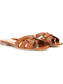 Nu Pieds 05 Leather Sandals - predominant colour: tan; material: leather; heel height: flat; heel: standard; toe: open toe/peeptoe; style: standard; occasions: holiday; finish: plain; pattern: plain; wardrobe: highlight; season: s/s 2017