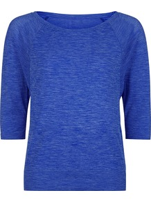 Dharana Short Sleeve Yoga Tee - neckline: round neck; pattern: plain; style: t-shirt; predominant colour: royal blue; length: standard; fibres: polyester/polyamide - 100%; fit: body skimming; sleeve length: half sleeve; sleeve style: standard; pattern type: fabric; texture group: jersey - stretchy/drapey; occasions: activity; season: s/s 2017