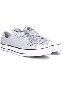 Chuck Taylor All Star Ox Sneakers - secondary colour: white; predominant colour: light grey; occasions: casual; material: satin; heel height: flat; toe: round toe; style: trainers; finish: plain; pattern: colourblock; wardrobe: highlight; season: s/s 2017