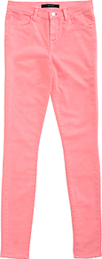 Maria High Rise Skinny Jeans, Guava - style: skinny leg; length: standard; pattern: plain; pocket detail: traditional 5 pocket; waist: mid/regular rise; predominant colour: pink; occasions: casual, creative work; fibres: cotton - mix; texture group: denim; pattern type: fabric; wardrobe: highlight; season: s/s 2017