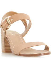 Jany Block Heel Buckle Sandal - predominant colour: nude; occasions: evening; material: leather; heel height: high; ankle detail: ankle strap; heel: block; toe: open toe/peeptoe; style: standard; finish: plain; pattern: plain; wardrobe: event; season: s/s 2017