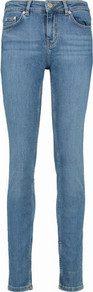Mid Rise Skinny Jeans Mid Denim - style: skinny leg; length: standard; pattern: plain; pocket detail: traditional 5 pocket; waist: mid/regular rise; predominant colour: denim; occasions: casual; fibres: cotton - stretch; jeans detail: whiskering; texture group: denim; pattern type: fabric; wardrobe: basic; season: s/s 2017