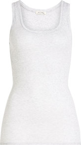 Cotton Tank - pattern: plain; sleeve style: sleeveless; style: vest top; predominant colour: white; occasions: casual; length: standard; neckline: scoop; fibres: cotton - 100%; fit: body skimming; sleeve length: sleeveless; pattern type: fabric; texture group: jersey - stretchy/drapey; wardrobe: basic; season: s/s 2017