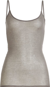 Cotton Camisole - sleeve style: spaghetti straps; pattern: plain; style: camisole; predominant colour: light grey; occasions: casual; length: standard; neckline: scoop; fibres: cotton - 100%; fit: tight; sleeve length: sleeveless; texture group: cotton feel fabrics; pattern type: fabric; wardrobe: basic; season: s/s 2017